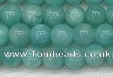 CAM1690 15.5 inches 4mm round natural amazonite gemstone beads