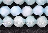 CAM1705 15.5 inches 6mm faceted nuggets amazonite gemstone beads