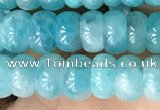 CAM1710 15.5 inches 4*7mm rondelle natural amazonite beads