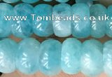 CAM1711 15.5 inches 4.5*8mm rondelle natural amazonite beads