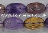 CAN22 15.5 inches 15*25mm faceted rice natural ametrine beads