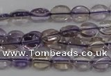 CAN46 15.5 inches 8*10mm oval natural ametrine gemstone beads