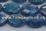 CAP391 15.5 inches 12*16mm faceted oval apatite gemstone beads