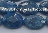 CAP392 15.5 inches 13*18mm faceted oval apatite gemstone beads