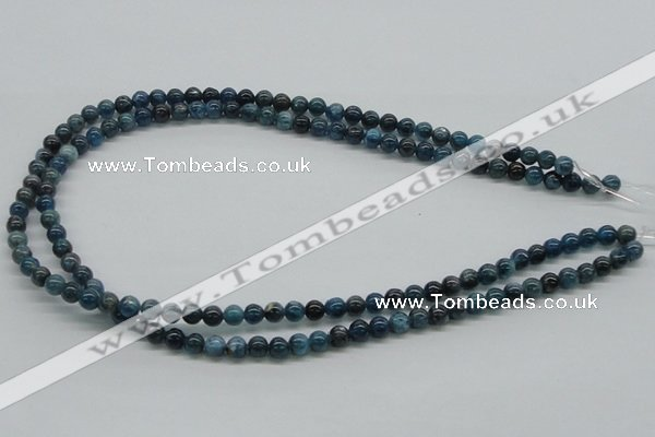 CAP52 15.5 inches 6mm round dyed apatite gemstone beads wholesale