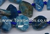 CAP535 15.5 inches 10*18mm - 16*30mm faceted freeform apatite beads