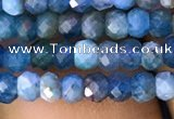 CAP615 15.5 inches 2*3mm faceted rondelle apatite gemstone beads
