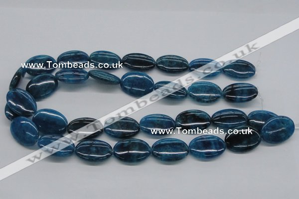 CAP66 15.5 inches 18*25mm oval dyed apatite gemstone beads wholesale