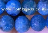 CAP660 15.5 inches 8mm faceted round apatite gemstone beads