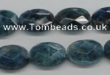 CAP68 15.5 inches 13*18mm faceted oval dyed apatite gemstone beads