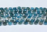 CAP700 15.5 inches 6*8mm faceted oval apatite beads