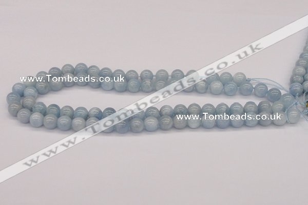 CAQ119 15.5 inches 14mm round AA grade natural aquamarine beads