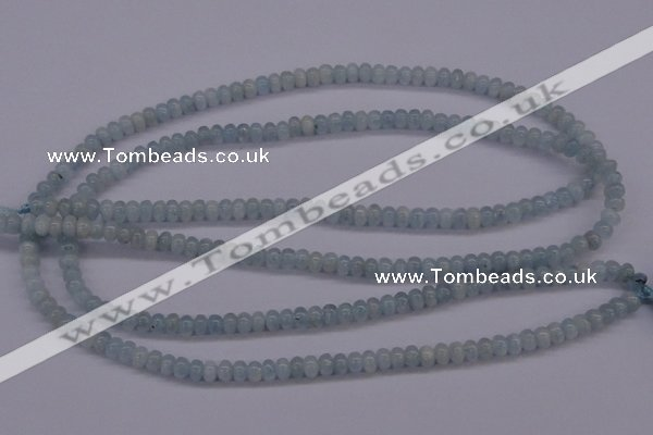 CAQ136 15.5 inches 3*4mm rondelle natural aquamarine beads