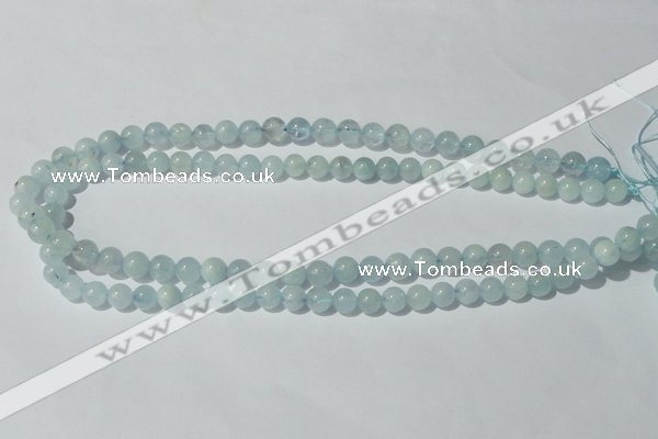 CAQ201 15.5 inches 8mm round natural aquamarine beads wholesale