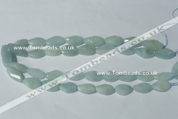 CAQ213 15.5 inches 14*22mm twisted natural aquamarine beads
