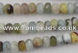 CAQ351 15.5 inches 6*8mm faceted rondelle natural aquamarine beads
