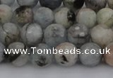 CAQ420 15.5 inches 6mm faceted round natural aquamarine beads