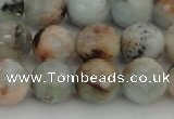 CAQ422 15.5 inches 10mm faceted round natural aquamarine beads