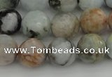 CAQ423 15.5 inches 12mm faceted round natural aquamarine beads