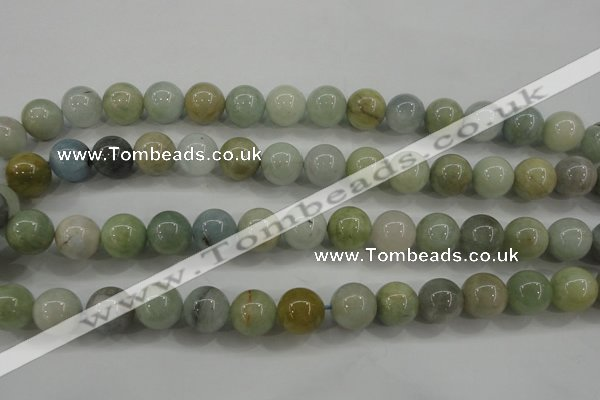 CAQ454 15.5 inches 10mm round aquamarine beads wholesale