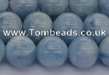 CAQ513 15.5 inches 12mm round A+ grade natural aquamarine beads