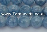 CAQ546 15.5 inches 10mm round AAAA grade natural aquamarine beads