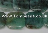 CAQ640 15.5 inches 18*18mm square aquamarine gemstone beads