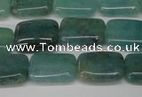 CAQ644 15.5 inches 10*14mm rectangle aquamarine gemstone beads