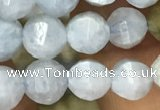 CAQ825 15.5 inches 6mm faceted round natural aquamarine beads