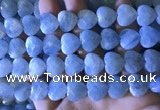 CAQ860 15.5 inches 13*14mm faceted heart aquamarine beads