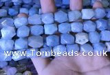 CAQ863 15.5 inches 10*12mm - 12*14mm faceted nuggets aquamarine beads
