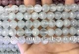 CAQ877 15.5 inches 10mm faceted round aquamarine gemstone beads