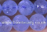CAQ887 15.5 inches 8mm faceted round natural aquamarine beads