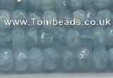 CAQ890 15.5 inches 3.5*6mm faceted rondelle aquamarine beads