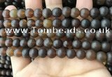 CAR218 15.5 inches 8mm round natural amber beads wholesale