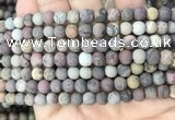 CAR371 15.5 inches 6mm round matte artistic jasper beads wholesale