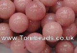 CAS07 15.5 inches 14mm round pink angel skin gemstone beads