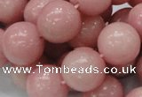 CAS08 15.5 inches 18mm round pink angel skin gemstone beads