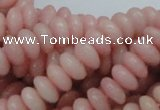 CAS09 15.5 inches 5*10mm rondelle pink angel skin gemstone beads