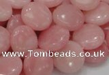 CAS17 15.5 inches 15mm flat round pink angel skin gemstone beads
