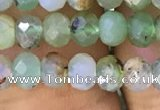 CAU426 15.5 inches 3*5mm faceted rondelle Australia chrysoprase beads
