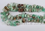 CAU430 10*15mm - 12*25mm faceted tyre Australia chrysoprase beads
