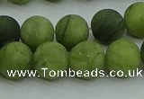 CAU512 15.5 inches 8mm round matte Chinese chrysoprase beads