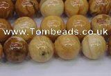 CAY05 15.5 inches 12mm round African yellow jasper beads wholesale