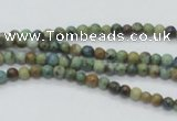 CAZ06 15.5 inches 4mm round natural azurite gemstone beads