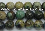 CAZ10 15.5 inches 12mm round natural azurite gemstone beads