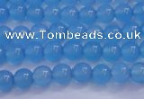 CBC251 15.5 inches 6mm A grade round ocean blue chalcedony beads