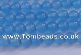 CBC261 15.5 inches 6mm AA grade round ocean blue chalcedony beads