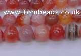 CBC402 15.5 inches 8mm A grade round orange chalcedony beads