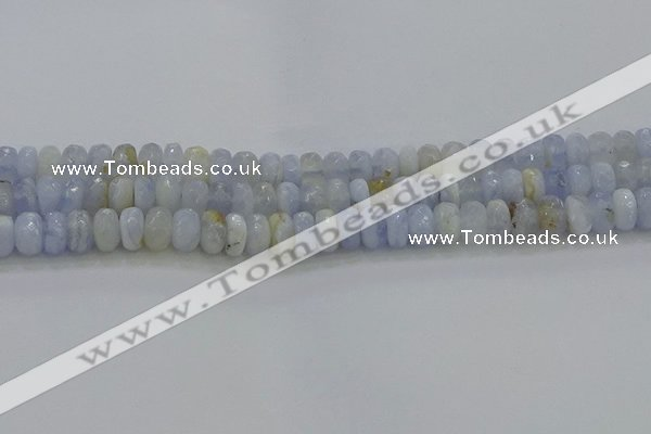 CBC465 15.5 inches 5*8mm faceted rondelle blue chalcedony beads